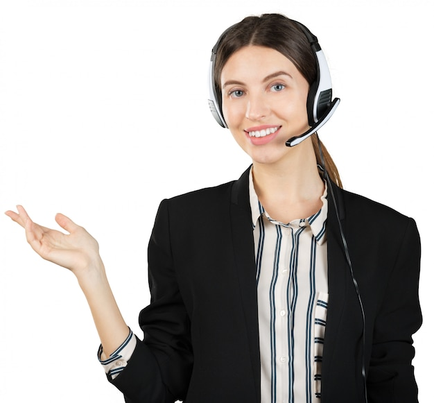 Woman customer service worker