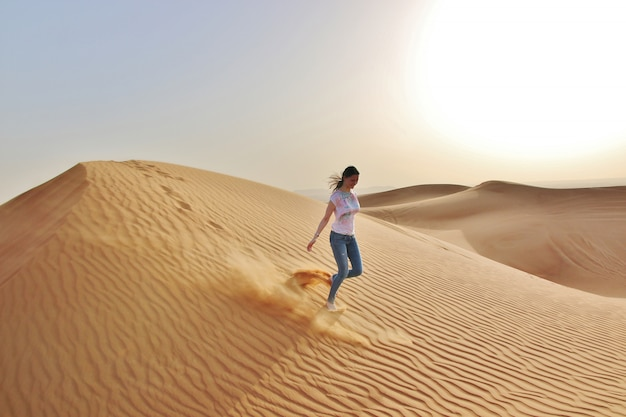 Woman in a desert