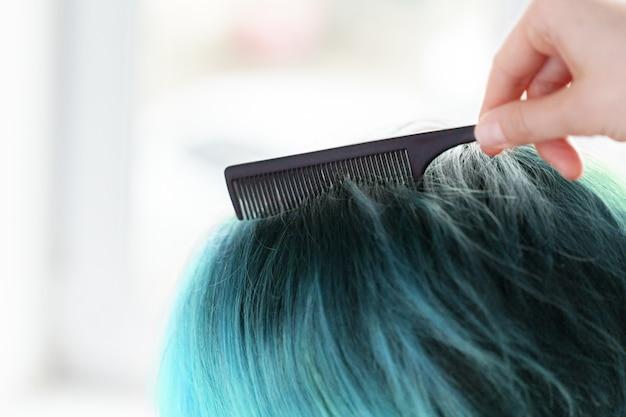 Woman does a haircut