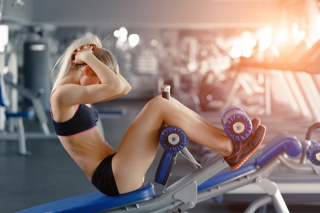 Woman Training Gym Fitness Poster Various Sizes