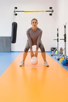 Woman doing sport exercises