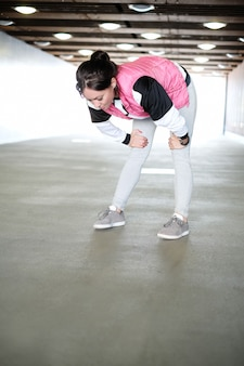 Woman doing sports outdoor
