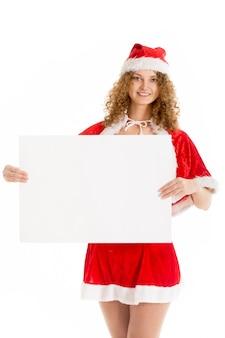 サンタに扮した女性