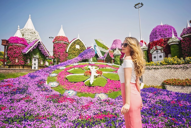 Woman in dubai garden