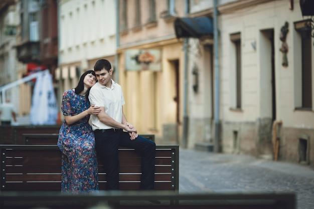 Woman embracing her partner