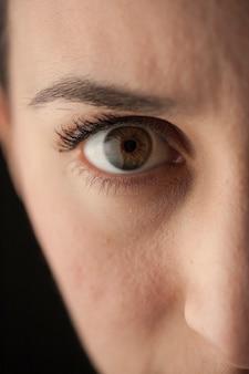 女の目はクローズアップ