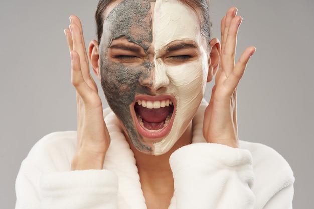 여자 얼굴 관리, 마스크 및 초상화