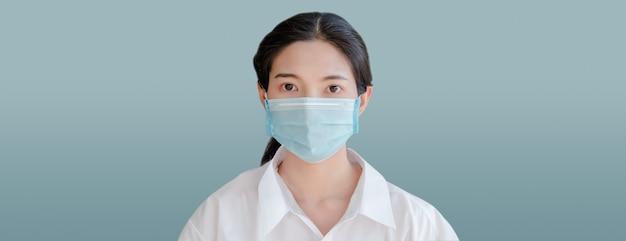 Woman face mask portrait cover