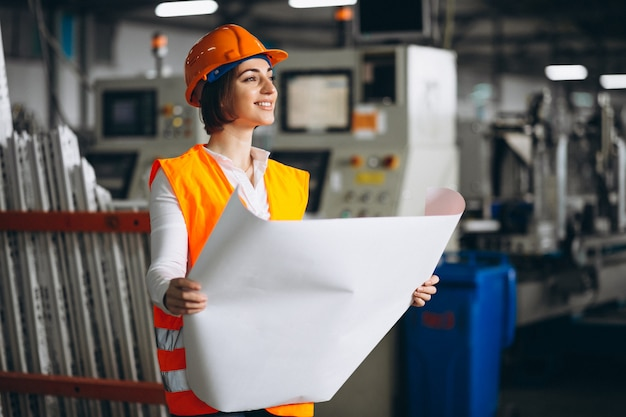 Woman at a factory