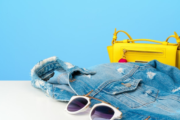 Woman fashion clothes and accessories