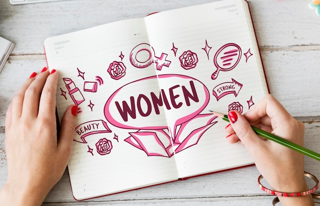 女性女性の美しさの強い概念