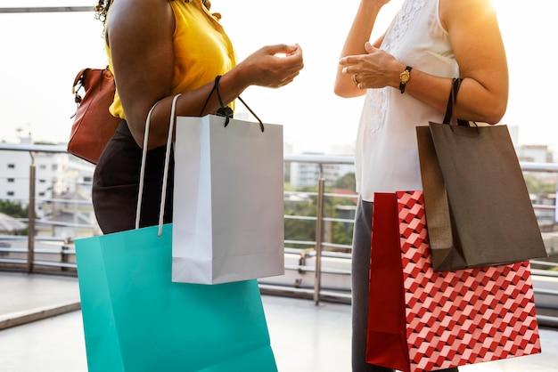Woman femininity shopping relax concept