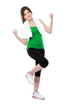Женщина фитнес растяжения