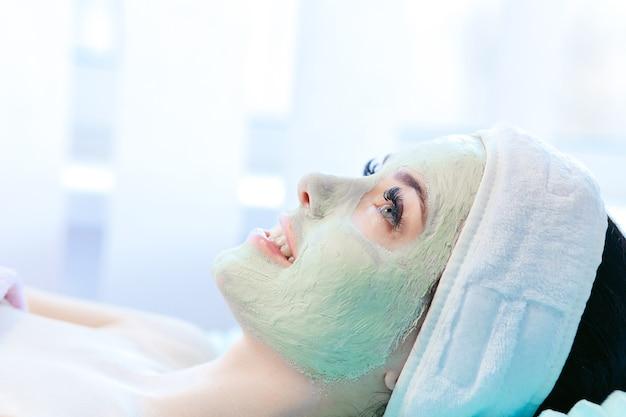 Woman getting spa treatment at beauty salon