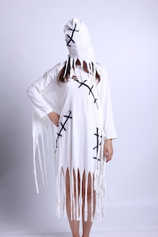 Woman in a ghost costume