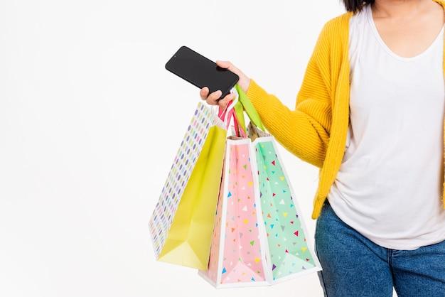 Женщина рука сумки многоцветный