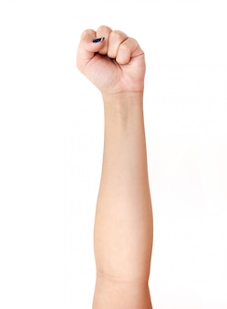 Woman hand sign isolated