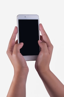 Woman hand and smart phone