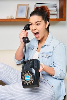 Woman has an unpleasant talk