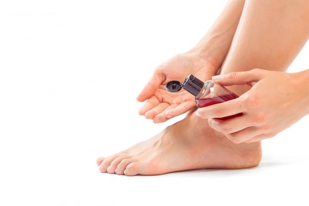Woman having a foot treatment