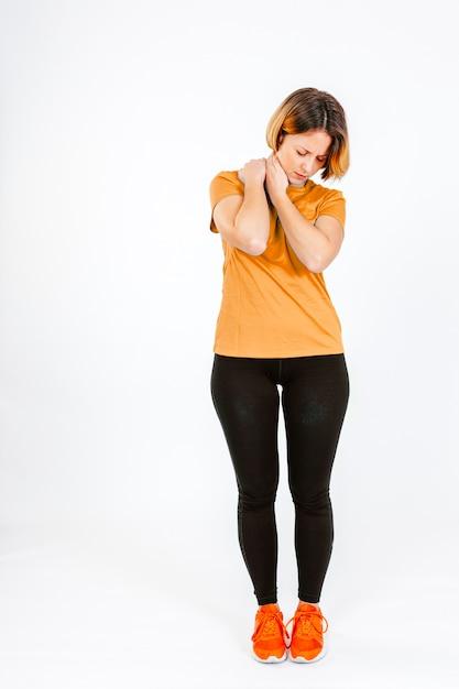 Woman having pain in ache