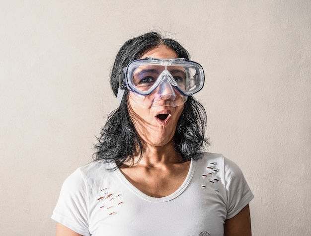 Woman having a scuba mask