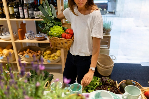 Woman having a sustainable lifestyle