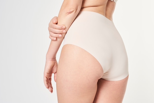 Woman in a high waisted underwear