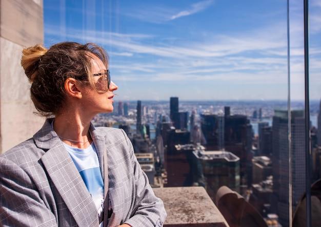 뉴욕시에서 여자