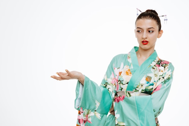 일본 전통 기모노 차림의 여자