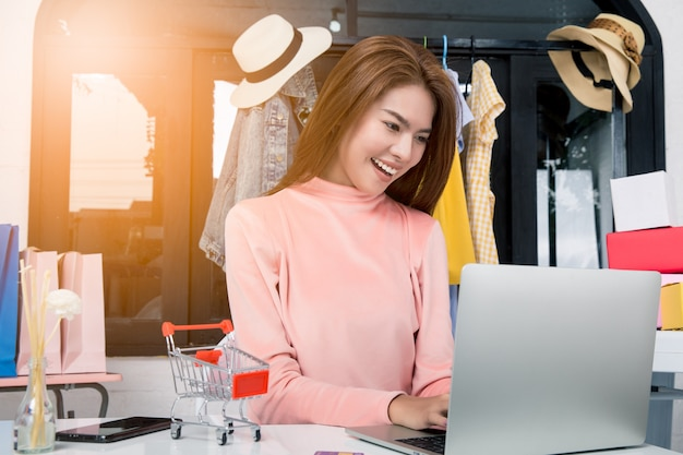 Woman is the owner of the online sales business.