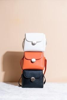 Woman leather fashion bag