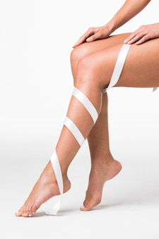Женские ноги как шелк