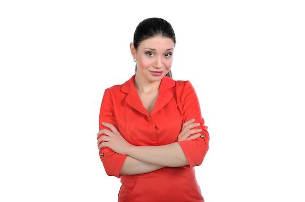 Женщина смотрит на него с презрением, с ухмылкой приподнимая брови