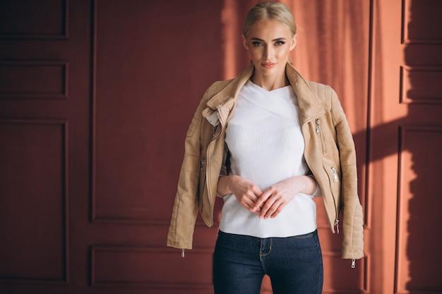 Woman model demonstrating cloths