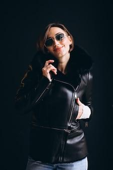 Woman model demonstrating winter cloths