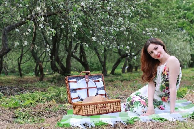 드레스 모자 자연 야외 여자
