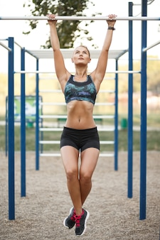 Woman on outdoor workout