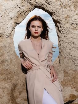 Woman outdoors landscape fashion lifestyle