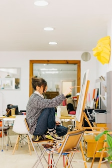 Портрет женской живописи в ателье