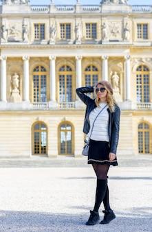 Woman in paris, france