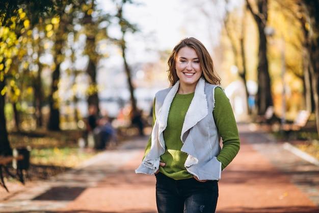 Woman in park walking