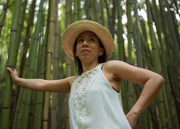 杖畑で撮影された女性