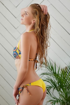 Woman posing in bikini