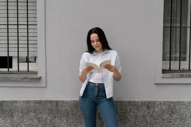 Woman reading an interesting book