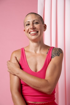 Woman recovering after breast cancer