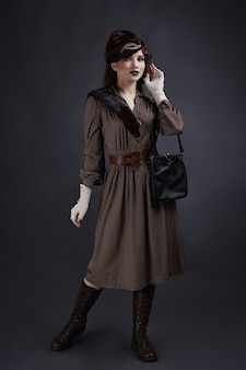Woman in retro style of 1920s years