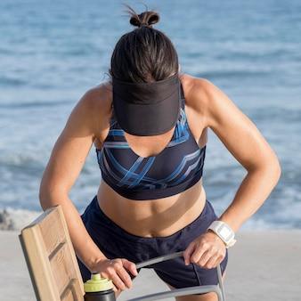 Тренировка бега женщины
