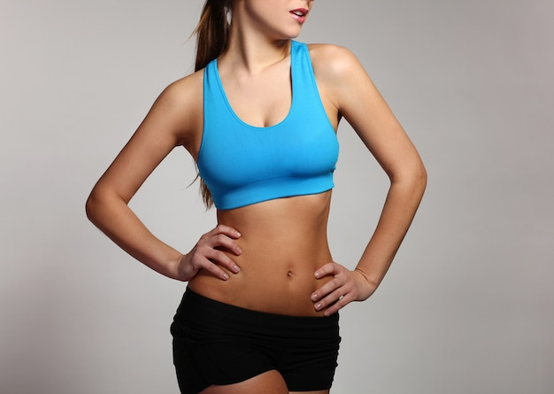 Woman's body in a fitness wear