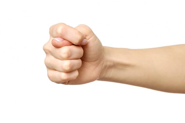イチジクを作る女性の手
